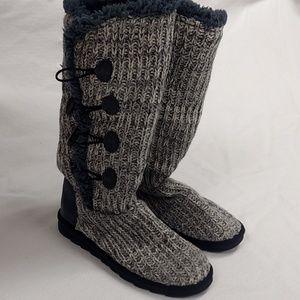 Muk Luks Knit Winter Boots Size 11 (CF-27)